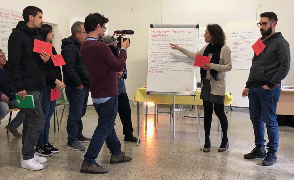 """Presentazione in plenaria del prototipo """"Valorizzazione della montagna"""""""