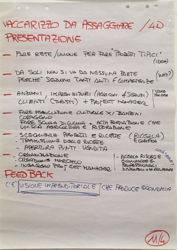 """Presentazione e sintesi del prototipo """"Vaccarizzo da assaggiare"""""""